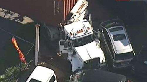Four people taken to hospital after truck smash in south-east Melbourne