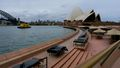 Opera Bar at the Sydney Opera House is seen empty prior to reopening.