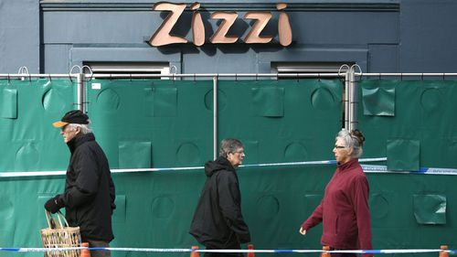 Zizzi restaurant near the area where former Russian double agent Sergei Skripal and his daughter were found critically ill following exposure to the Russian-developed nerve agent Novichok.  Picture: AAP