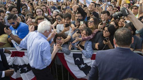 Bernie Sanders is the current frontrunner in the Democratic primary race.