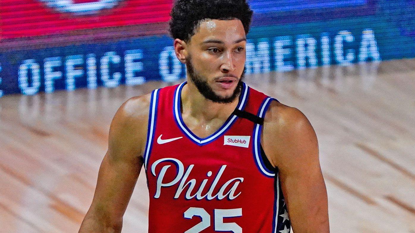 Aussie NBA star Ben Simmons leaves Philadelphia 76ers game with knee injury