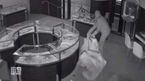 Three masked men broke into a Sydney jewellery store this morning.