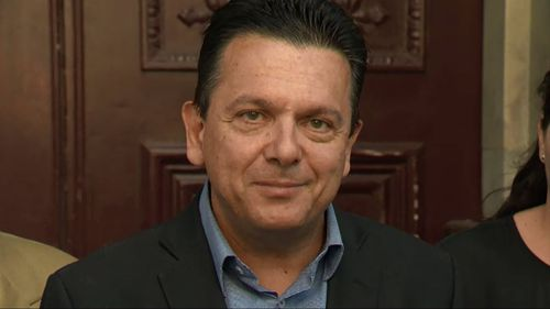 Nick Xenophon addressed the media today.