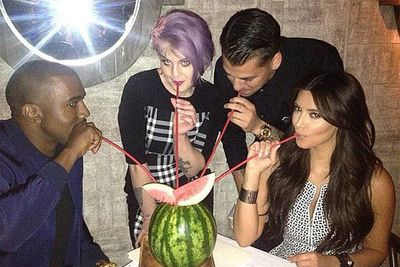 """This punk/princess duo have more in common than you'd think, considering they've both put up with reality TV cameras in their homes for years! <br/><br/>Kim recently instagramed this pic of the besties, writing: """"Flashback Friday! Lovd this pic of me @robkardashian @misskellyo @kanyewest a few weeks ago in NYC.""""<br/><br/><a href=""""http://celebrities.ninemsn.com.au/antibullying"""">Want to win an iPad? Take our quiz!</a>"""
