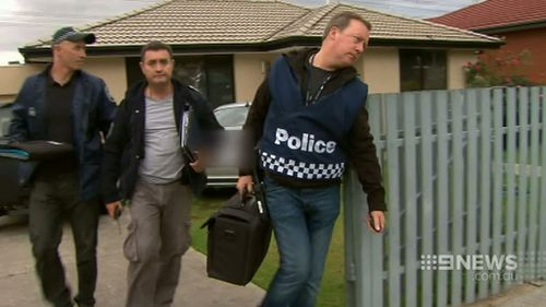Raids were carried out in Melbourne's southeast yesterday. (9NEWS)