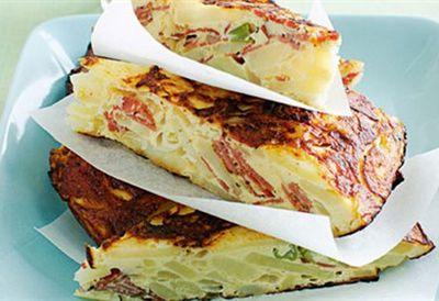 Potato and pastrami tortillas
