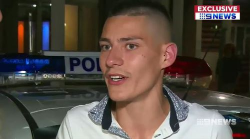 Manevski-Radin and another man confronted Ms Powell during the Schoolies event south of Adelaide. (9NEWS)