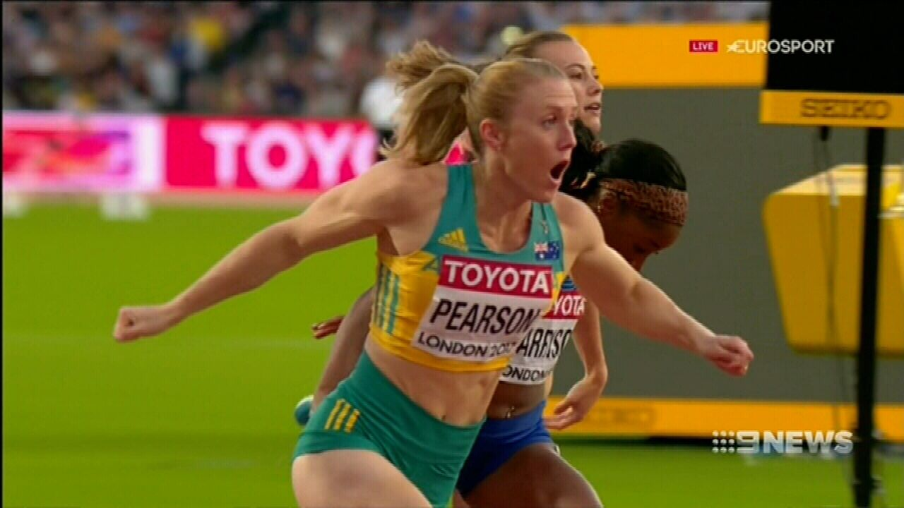 Pearson recaptures 100m hurdles crown