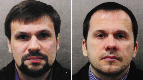Alexander Petrov and Ruslan Boshirov, who heve been charged in relation to the attack on Sergei Skripal and his daughter Yulia.