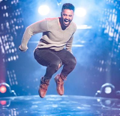 Graeme Isaako literally jumped for joy at making it through the Blind Auditions
