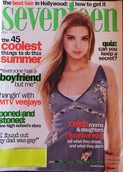Ivanka appeared in a feature about celebrity mothers and their daughters. Mother Ivana used to model.