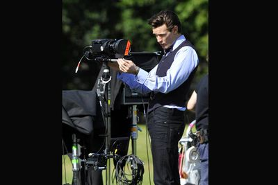 Matt Smith on the flip-side of the cameras