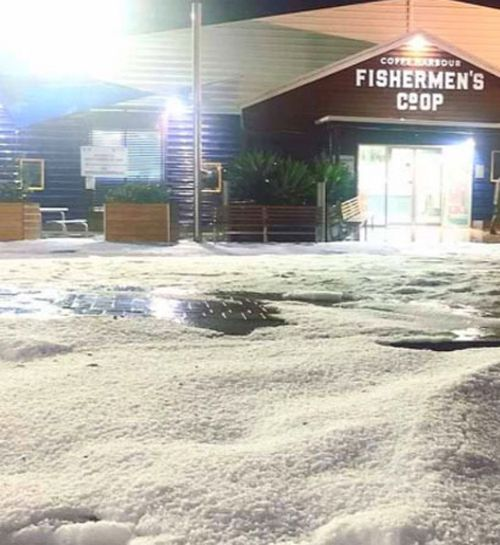 Hail in Coffs Harbour, NSW