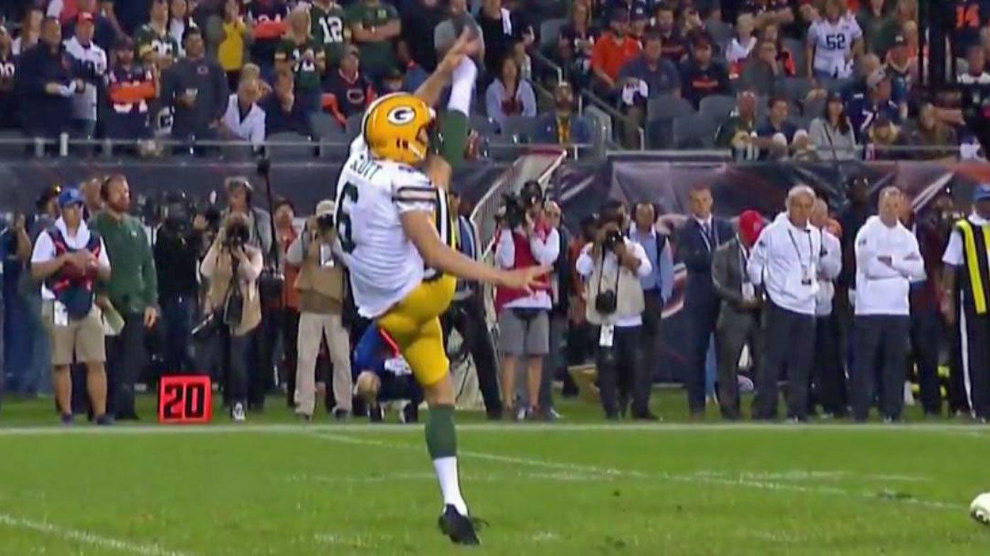 Packers rookie punter J.K. Scott showed off his skills in his NFL debut