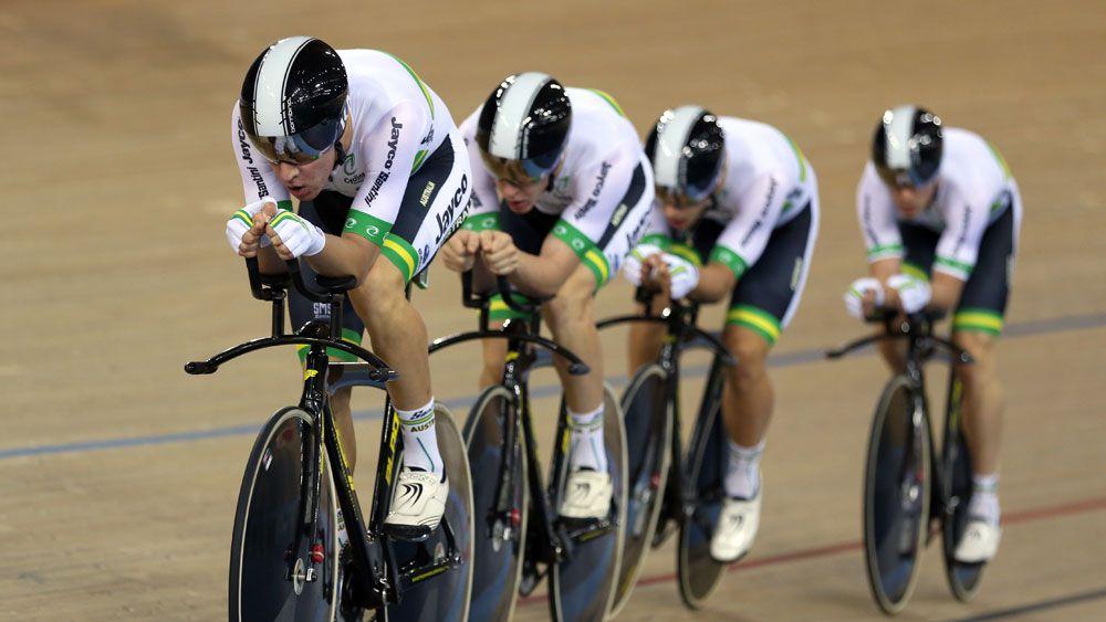 The Australian men's pursuit team. (AAP)