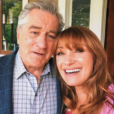 Robert de Niro and Jane Seymour on the set for War With Grandpa.