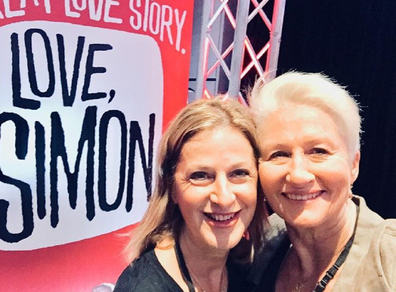 With wife Jackie at the premiere of the move Love Simon.