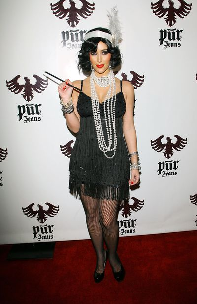 Kim Kardashian arrives to the PUR Jeans Halloween Bash held at STK and Coco De Ville on October 31, 2008 in West Hollywood, California.