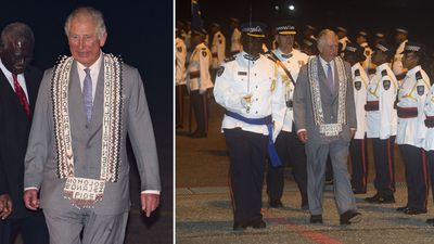 Prince Charles arrives in the Solomon Islands