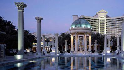 Caesar's Palace pool.