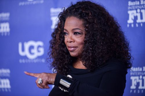 Oprah Winfrey has tweeted about the fire threat to her Montecito home. (AAP)