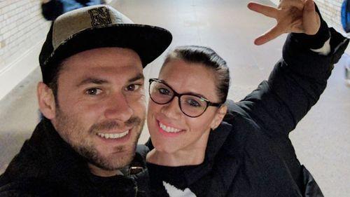 Andrei Burnaz and Andreea Cristea. (AP/AAP)