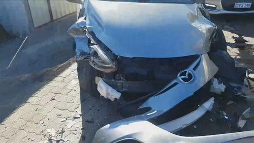 An allegedly stolen car.