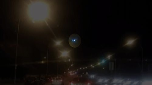 Sydneysiders were left starstruck after a giant fireball dashed across the sky last night. Picture: 9NEWS