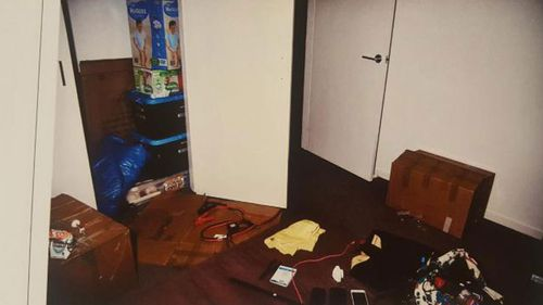 The room where the teenage babysitter was held (SA Police).