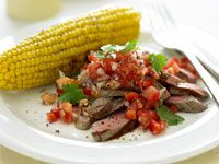 Argentine steak with salsa
