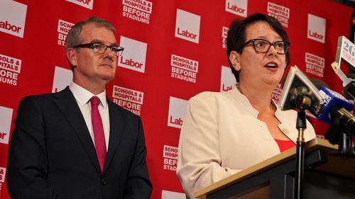 Penny Sharpe is the interim Labor leader after Michael Daley stepped aside.