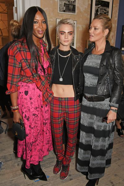 Naomi Campbell, Cara Delevingne and Kate Moss at Burberry Spring/Summer '18
