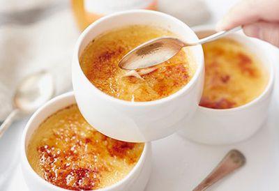 Orange, passionfruit crème brûlée