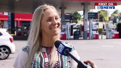Jade Austin went out of her way to help the newly engaged Gold Coaster find her ring. Picture: 9NEWS