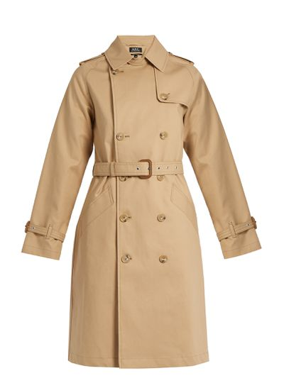 "APC trench, $729 at <a href=""http://www.matchesfashion.com/au/products/A-P-C--Julianne-cotton-trench-coat--1079528"" target=""_blank"">Matches<br /> </a>"