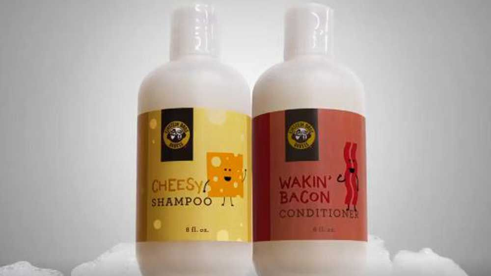 Bacon and cheese shampoo