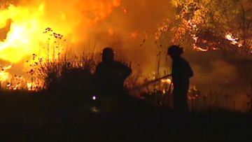 Firefighters from Menai Bushfire Brigade battled to contain multiple fires in the Sutherland Shire.