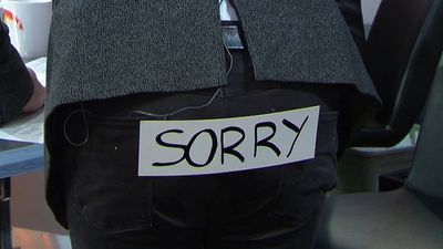 Richard Wilkins apologises to Dua Lipa by wearing a 'sorry' sign on his butt on 'TODAY'
