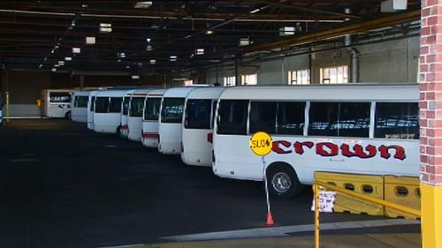 It is believed Crown transports around 1500 Victorian students every day. (9NEWS)