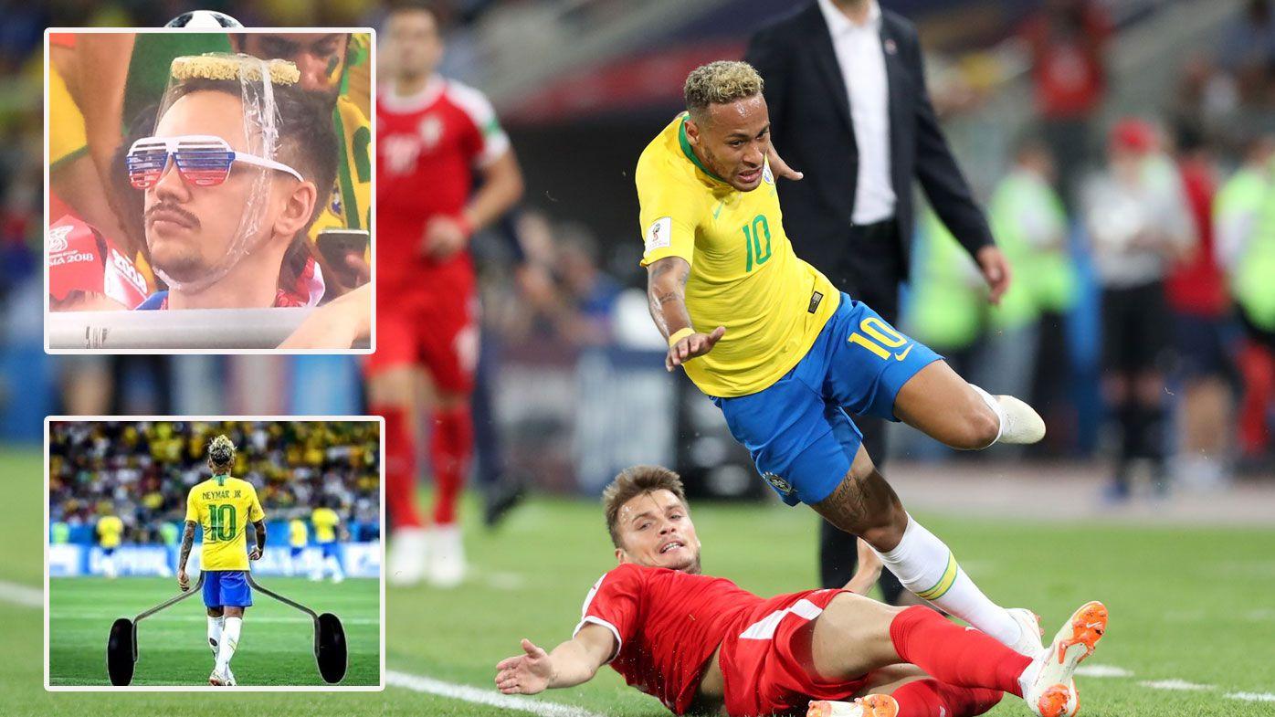 Social media users slam Neymar after comical dive against Serbia