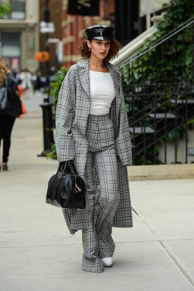 Bella Hadid in a suit by Zimmermann, May 2017