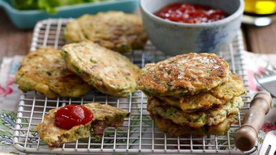 "Recipe:&nbsp;<a href=""http://kitchen.nine.com.au/2016/05/13/12/54/lamb-fritters-for-760"" target=""_top"">Lamb fritters</a>"