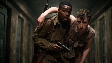 Jovan Adepo and Dominic Applewhite in 'Overlord'.