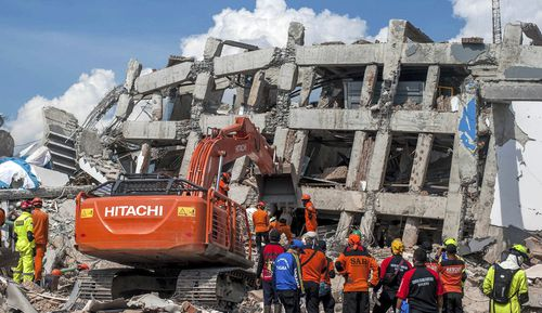 Up to 30 people are believed to be buried in a Palu hotel, but hopes have faded anybody could be found alive after the earthquake.