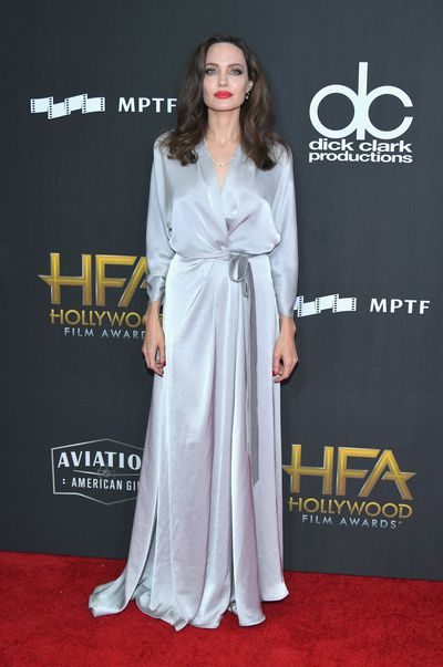 Angelina Jolie in Jenny Packham at the 21st Annual Hollywood Film Awards in Beverly Hills in  November, 2017