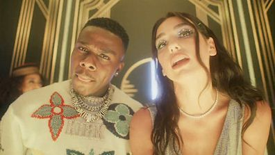 Dua Lipa and DaBaby collaborated on the 2020 track Levitating.