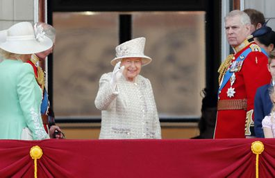 Queen Elizabeth royal family Trooping the Colour