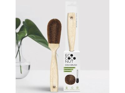 Plastic-free dish brush