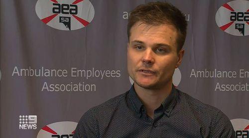 Josh Karpowicz from the Ambulance Employees' Association