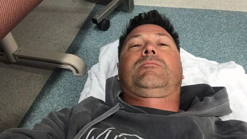 Tim Hawkins lay for hours on the floor of Nepean Hospital's emergency department. (9NEWS)